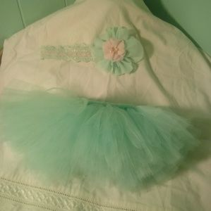 Other - Pink and mint green tutu set
